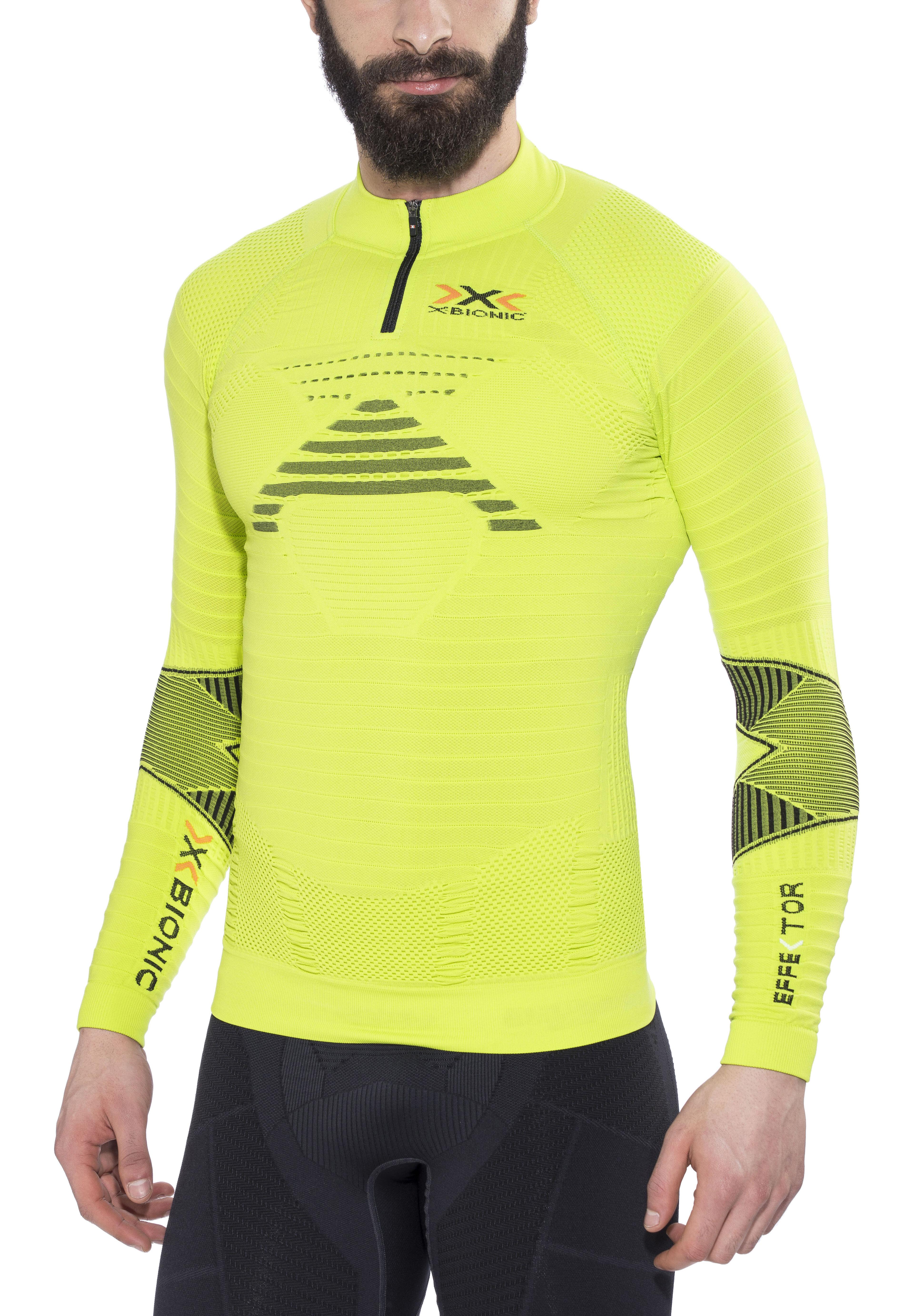 dc99cbd7cb4 X-Bionic Effektor Trail Running - T-shirt manches longues running Homme -  jaune